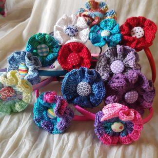 диадема с плетено цвете