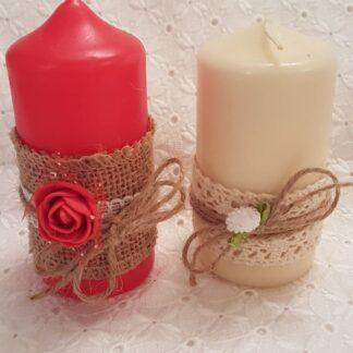 свещ с декорация