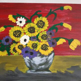 картина ваза с цветя