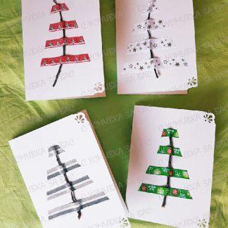коледна картичка с елха