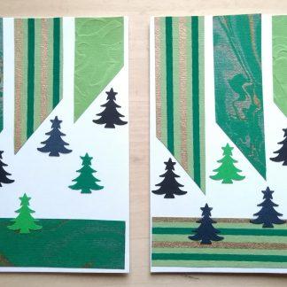 коледна картичка в зелено